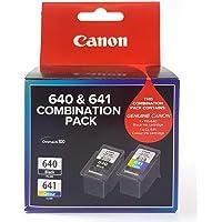 Canon PG640CL641CP Combo Pack (1 x PG640 Black & 1 x CL641 Colour), Black/Multi/Colour