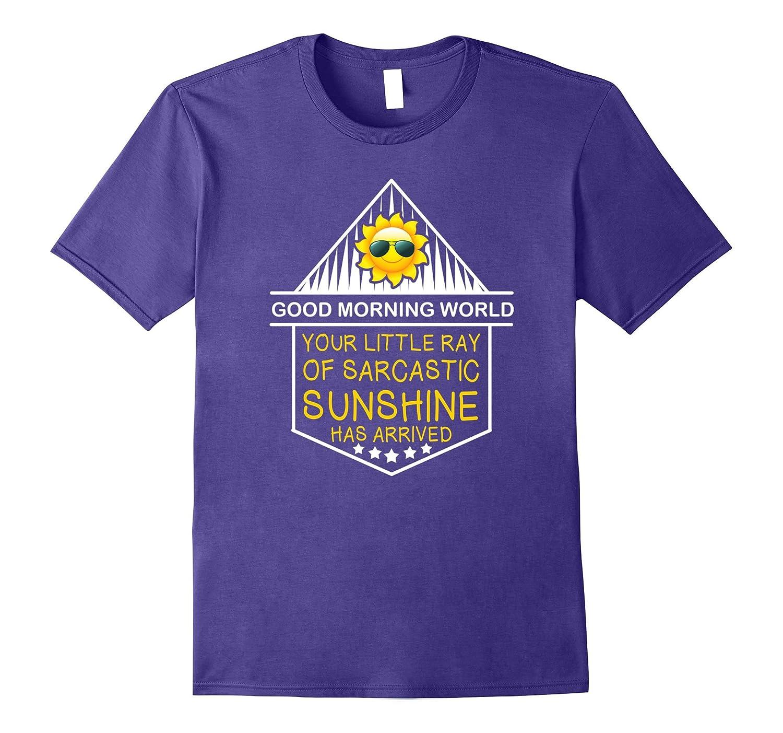 Good Morning World! Funny Joke Sarcastic Sunshine T-Shirt-BN