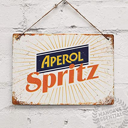 Amazon.com: WallDector Aperol Spritz - Cartel de hierro para ...