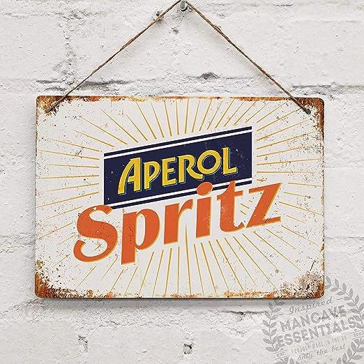 Toddrick Aperol Spritz Cocktail Prosecco Cartel de Chapa ...