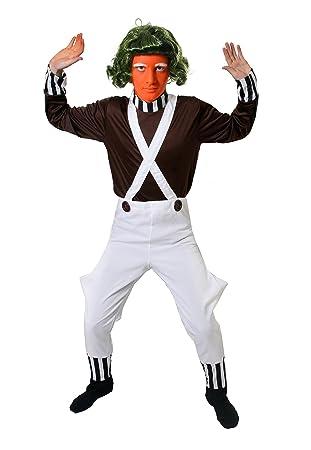 Ilovefancydress - Disfraz de trabajador de fábrica de chocolate para adulto (camiseta marrón y mono