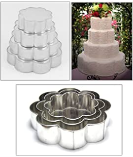 Four tier wedding cakes square pans