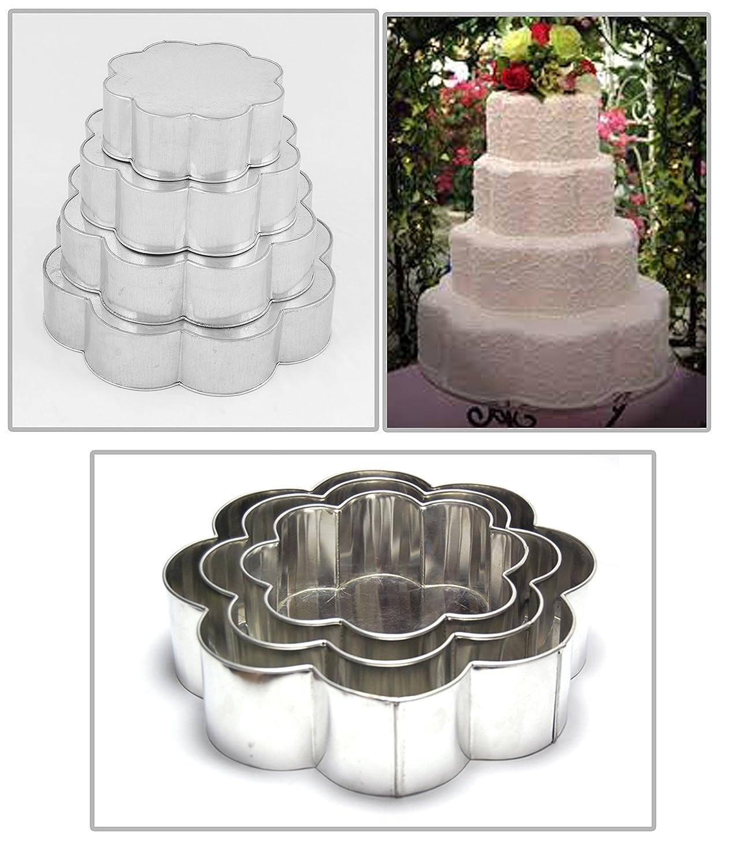 Amazon.com: EURO TINS Professional 4 Tier Petal Multilayer Wedding ...