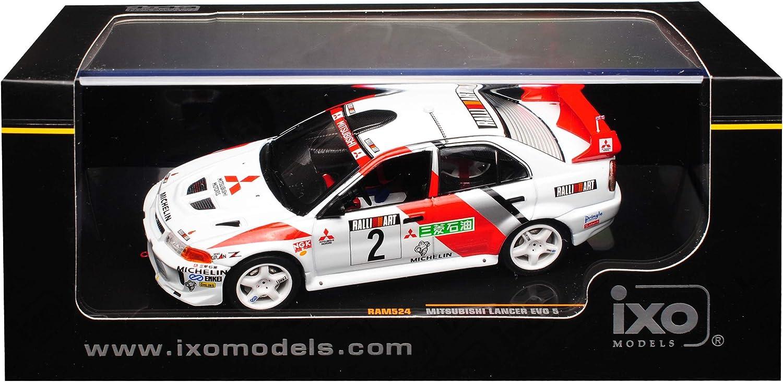 Mitsubishi Lancer Evo Evolution 5 Richard Burns Champions Meeting 1998 RAM524 1//43 Ixo Modell Auto mit individiuellem Wunschkennzeichen