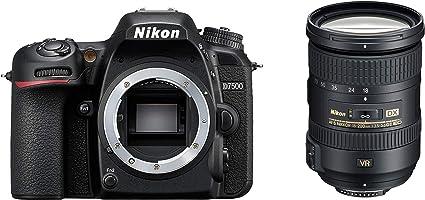 Nikon D7500 + AF-S DX 18-200 VRII Juego de cámara SLR 20,9 MP CMOS 5568 x 3712 Pixeles Negro - Cámara Digital (20,9 MP, 5568 x 3712 Pixeles, CMOS, 4K Ultra HD, Pantalla táctil, Negro)