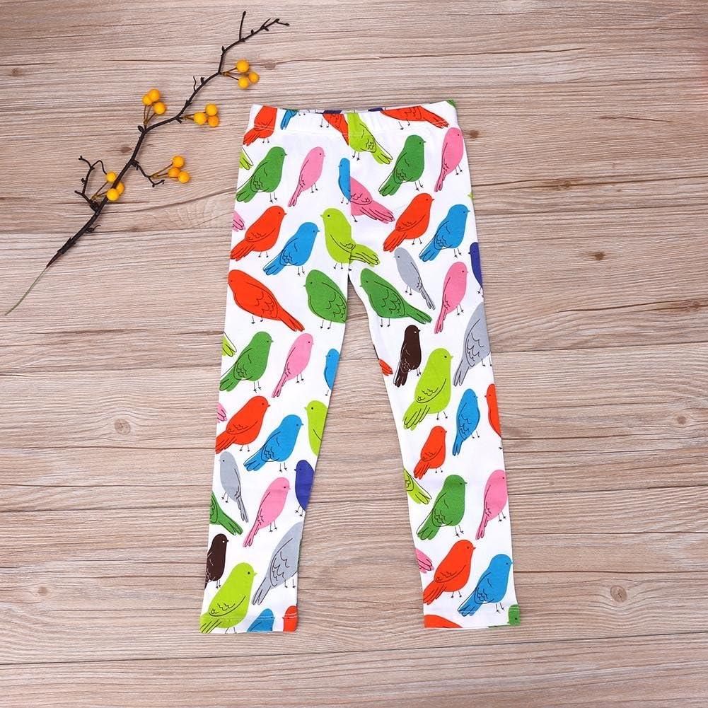 chinatera Baby Girls Leggings Bird Pattern Cartoon Cotton Trousers Leggings