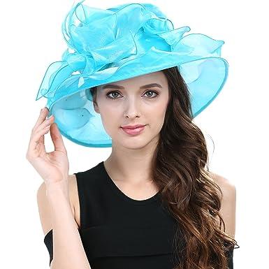 14d9dac3d8ba1 Women Special Color Kentucky Derby Hat – Wide Brim Sun Hats for Horse Race