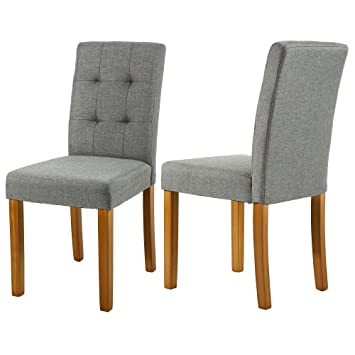 Amazon Com Lssbought Upholstered Dining Chair Parson Dining Chair