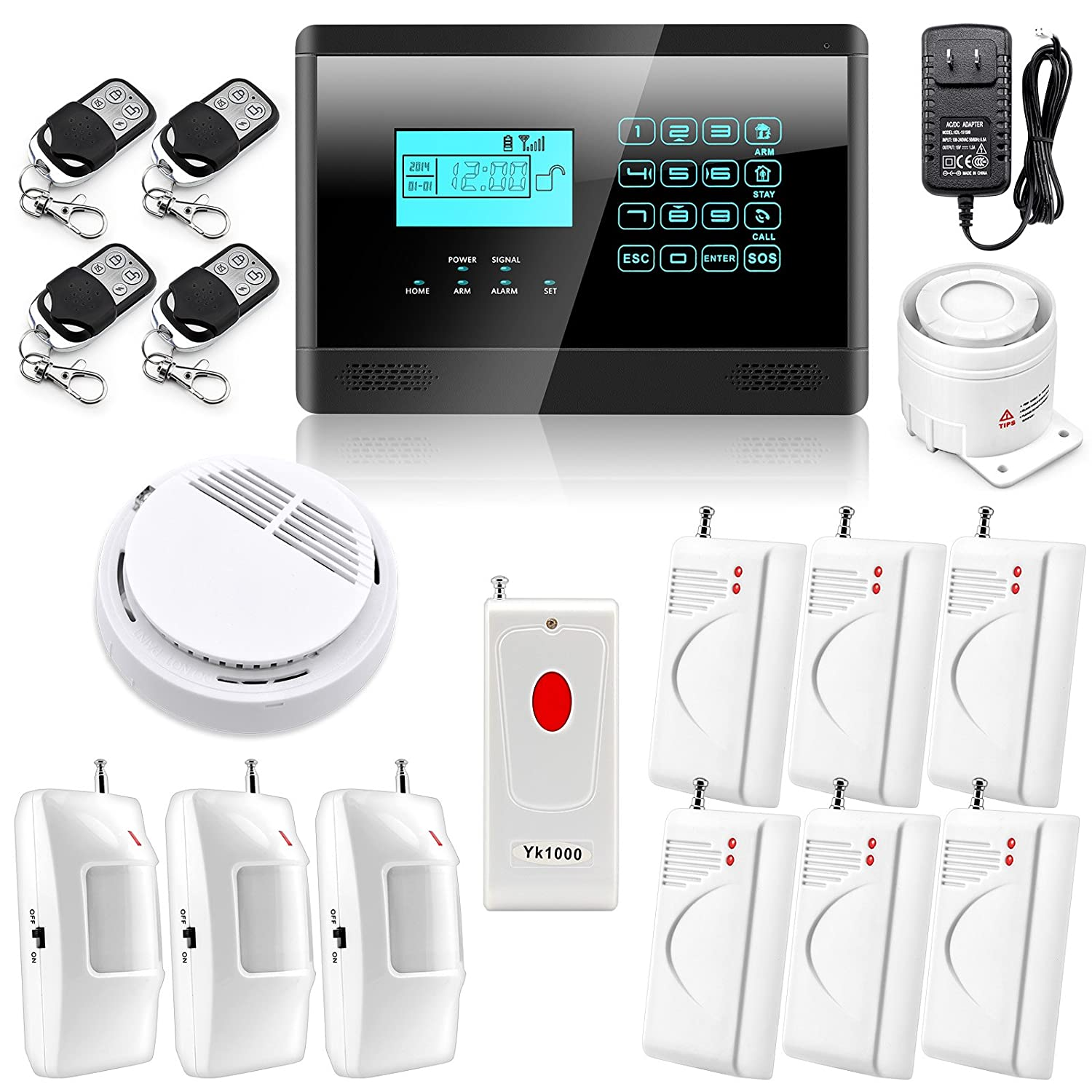house burglar alarm. wolfguard wireless autodial smart home house security burglar alarm system 7