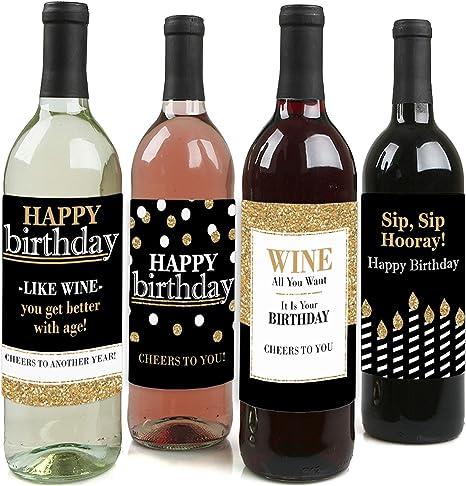 Wine Bottle Sticker vinyl decal Birthday