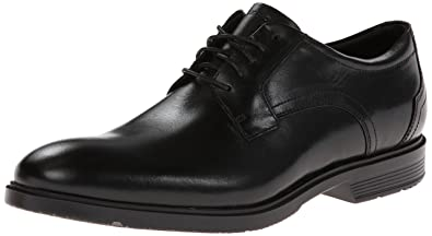 Rockport Men's CITY SMART PLAIN TOE Shoe, black leather, ...