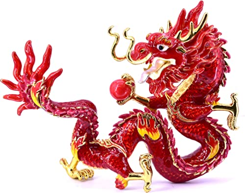 LHR trading inc Feng Shui Fire Dragon Holding Fireball to Suppress Quarrelsome Conflict Energies