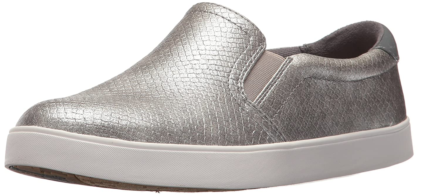 Dr. Scholl's Women's Madison Fashion Sneaker B06Y1TDMYW 6 B(M) US|Grey Pearlized Embossed Snake Print