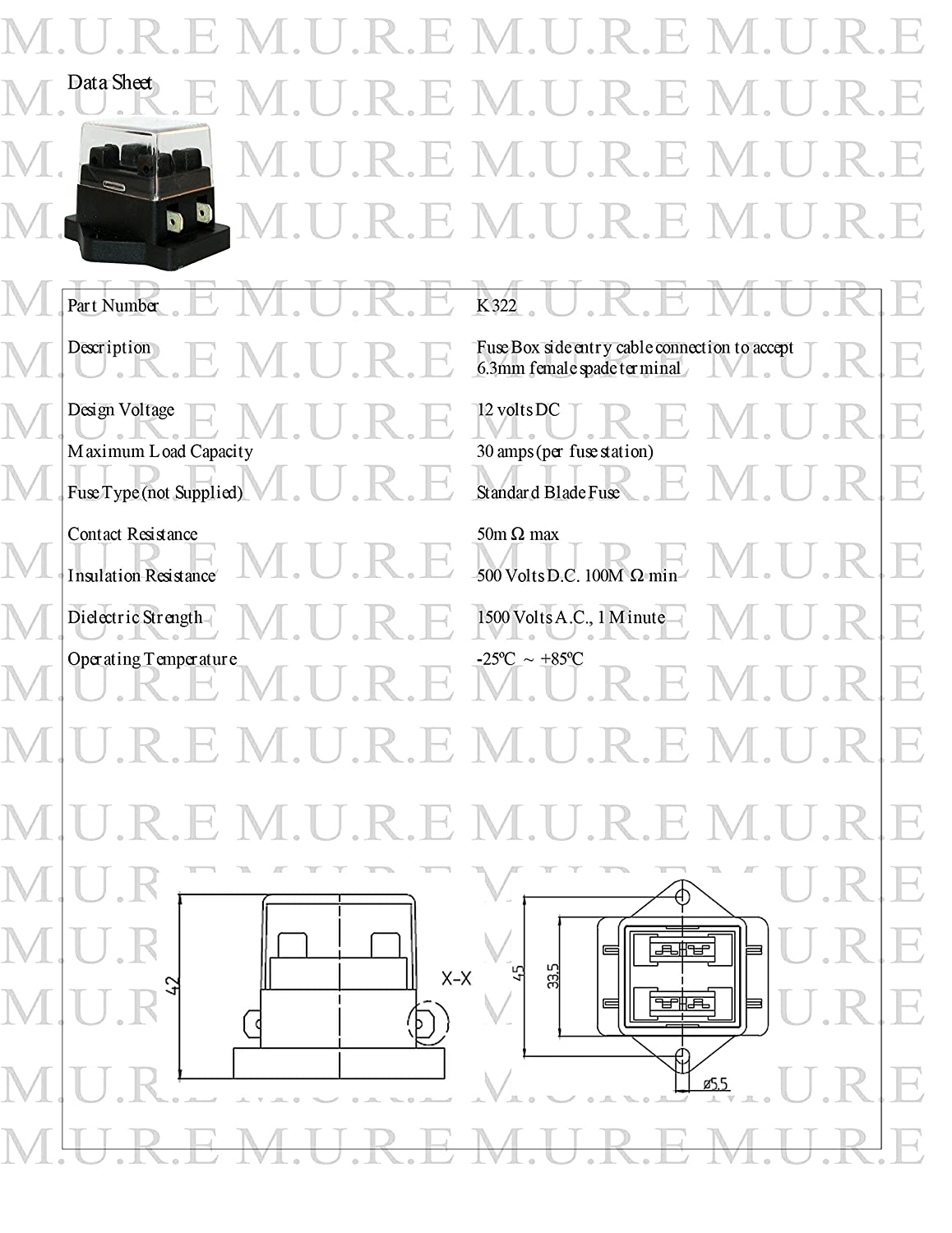 Mid Ulster K322 2 Way Circuit Standard A To Blade Fuse Box Holder Smart Car 450 Dual Voltage Motorbike