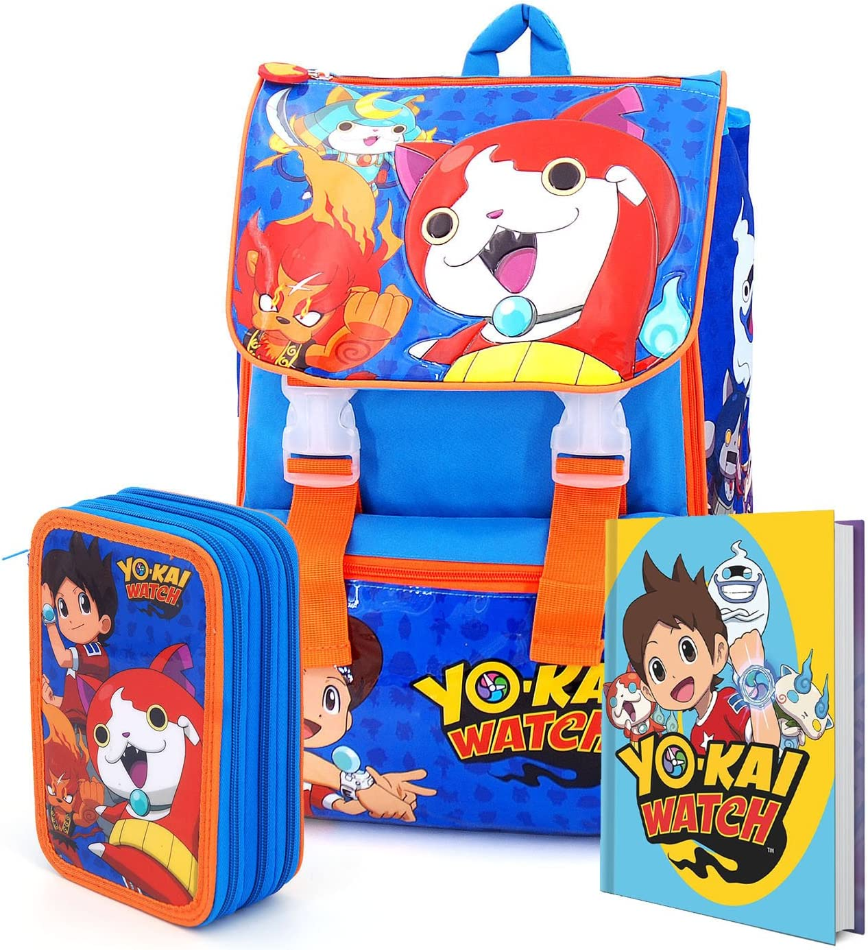 YO-KAI WATCH - Set de útiles escolares azul turquesa: Amazon.es: Equipaje