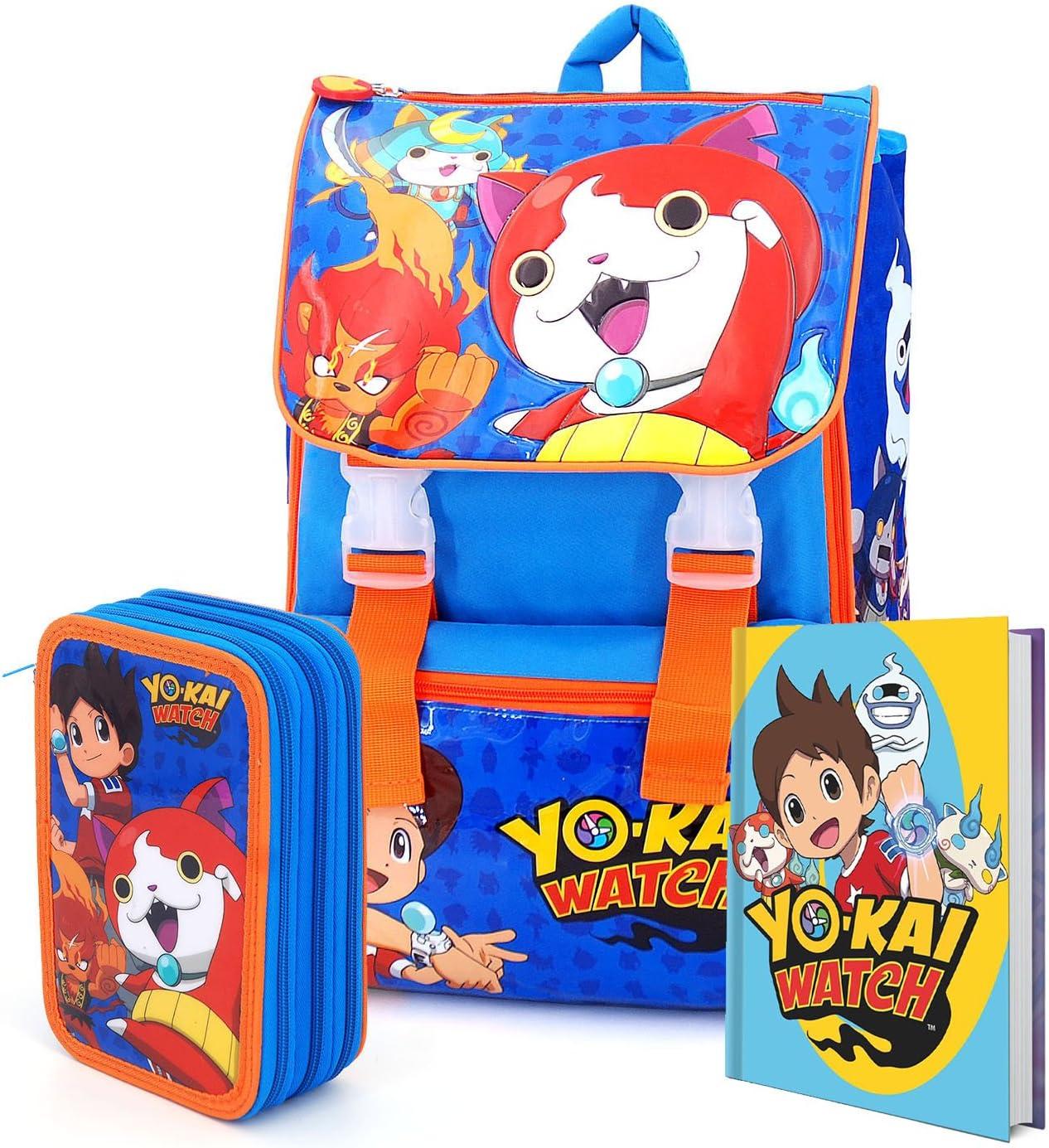 YO-KAI WATCH - Set de útiles escolares azul turquesa: Amazon.es: Equipaje