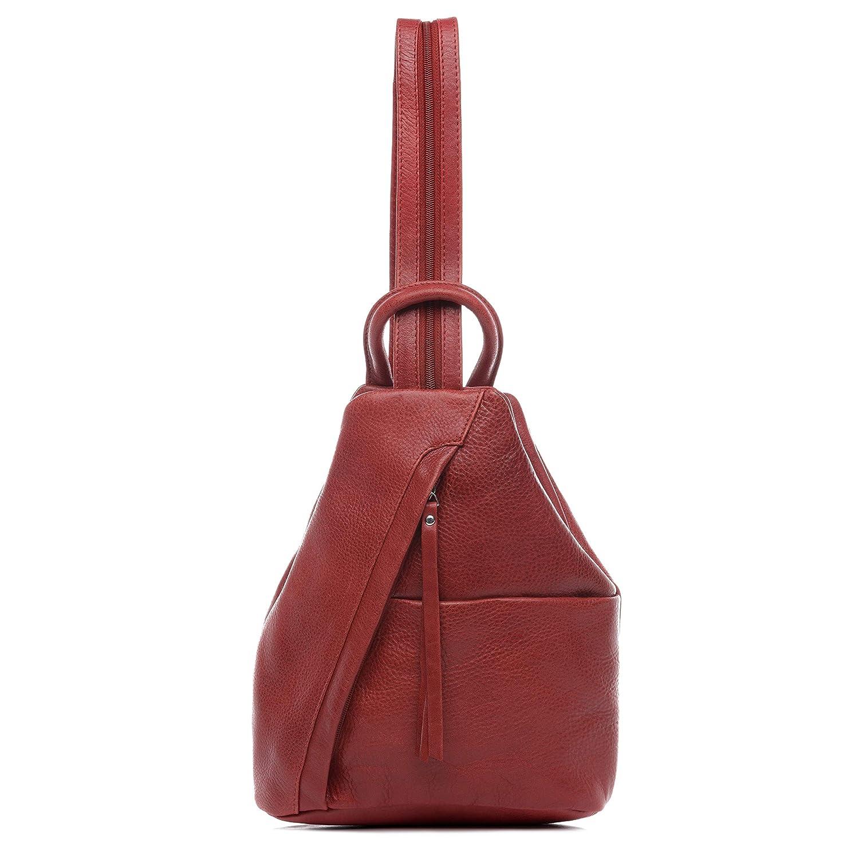 BACCINI Sac à Dos Cuir Emilia Petit Sacs portés Dos Femme Backpack Ville Voyage Scolaire Noir
