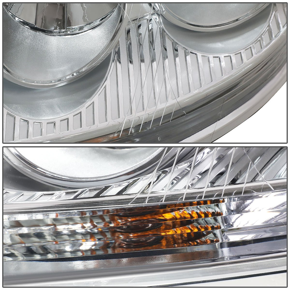 For Volkswagen VW Jetta//Rabbit Pair of Chrome Housing Headlight