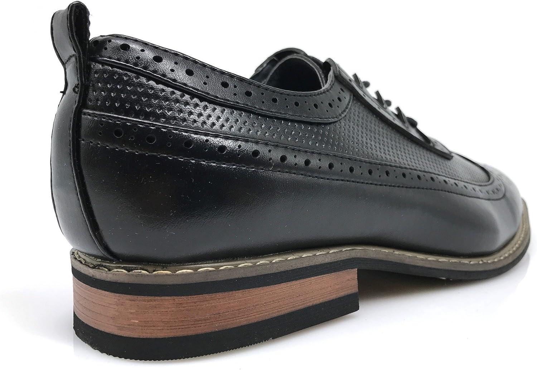 Mens Dress Oxfords Shoes Italy Modern Designer Wingtip Captoe 2 Tone Lace Up Shoes