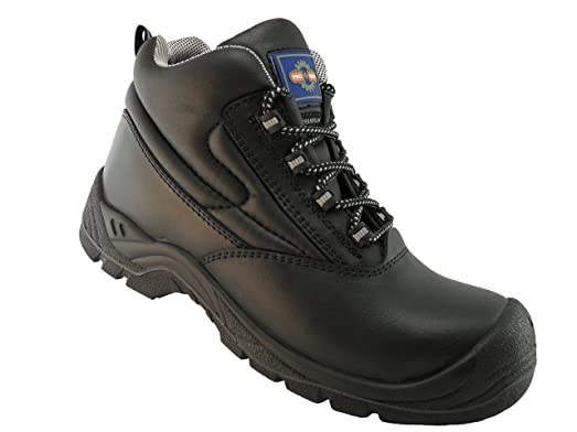 Rockfall Men's Smooth Leather Fully Non-Metallic Safety Boot