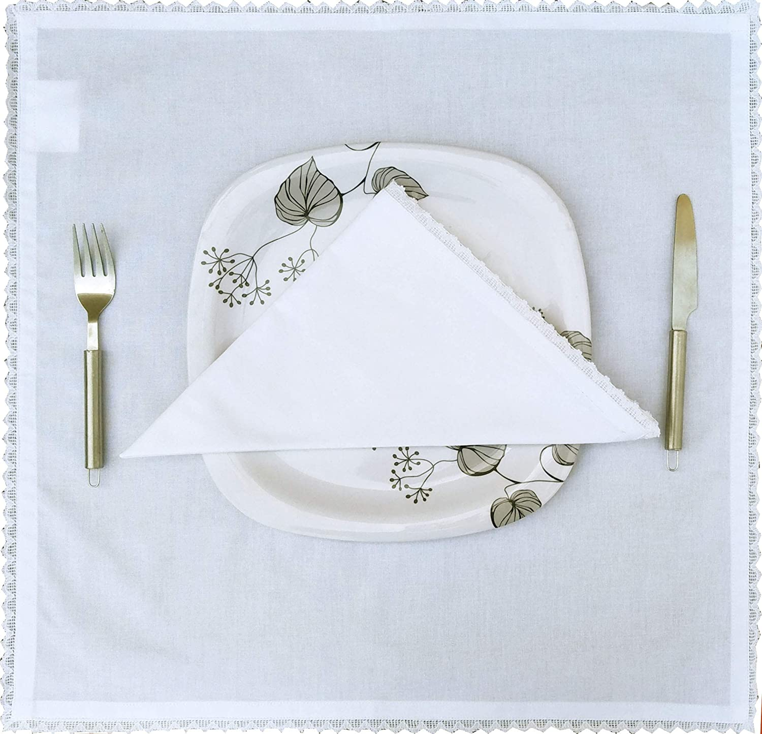 Mitered Corners Machine Washable Napkins Set of 12 Light /& Pro Cloth dinner Napkins-100/% Duck Cotton-18x18 inch With Hemstitched-White Color,Wedding Napkins,Cocktails Napkins,Dinner Napkins,Decorative Napkins