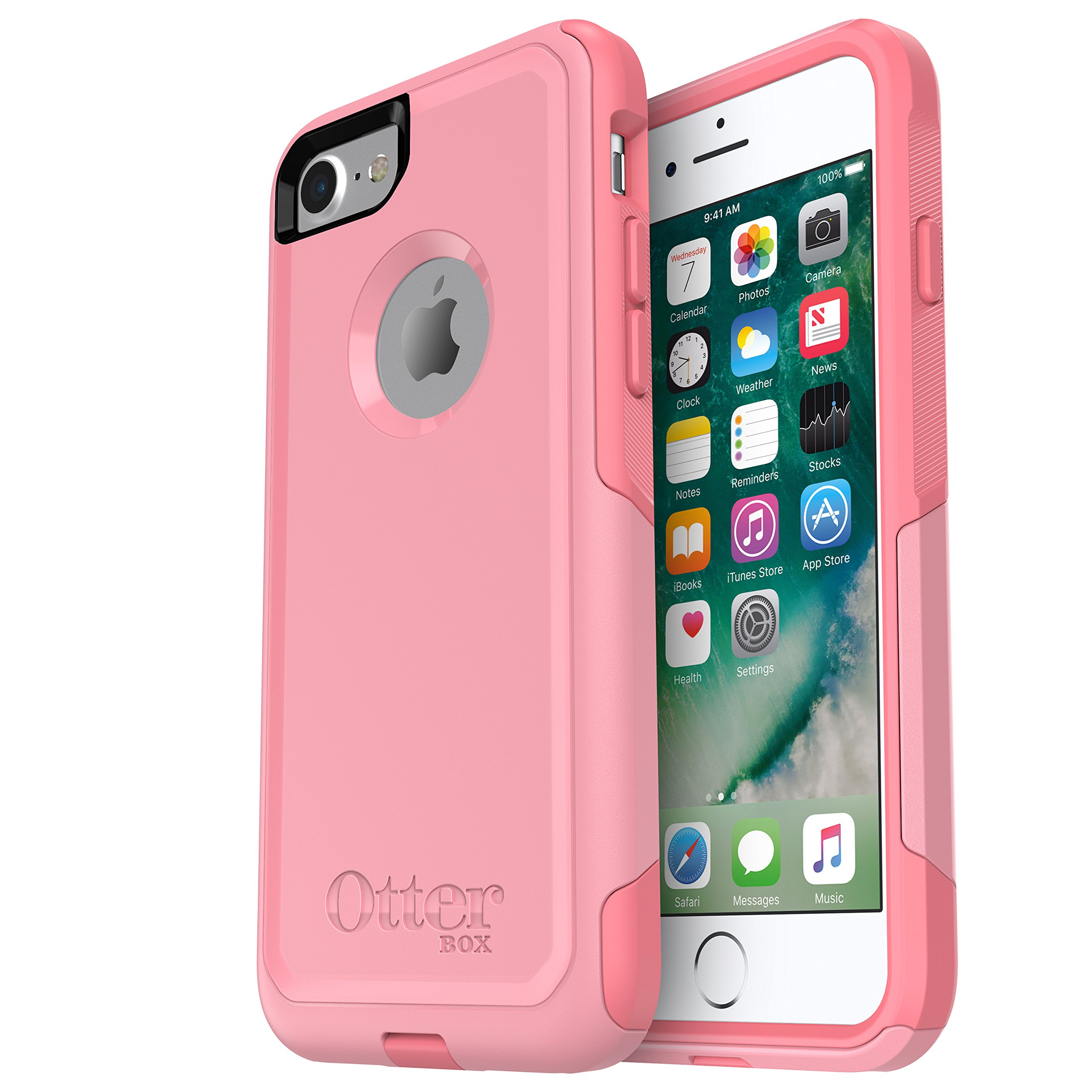 OtterBox (77-53899) COMMUTER SERIES Case for iPhone 8 & iPhone 7 (NOT Plus) - ROSMARINE WAY (ROSMARINE/PIPELINE PINK)