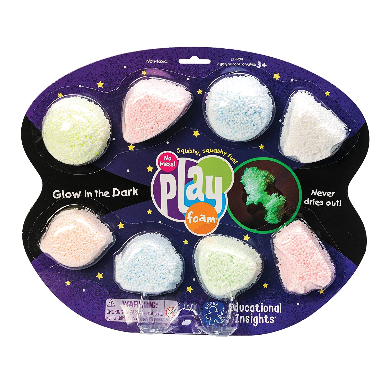 Educational Insights Playfoam Glow-in-the-Dark 8-Pack 1909