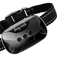 DogRook Rechargeable Dog Bark Collar - Humane, No Shock Barking Collar - w/2 Vibration & Beep Modes - Small, Medium…
