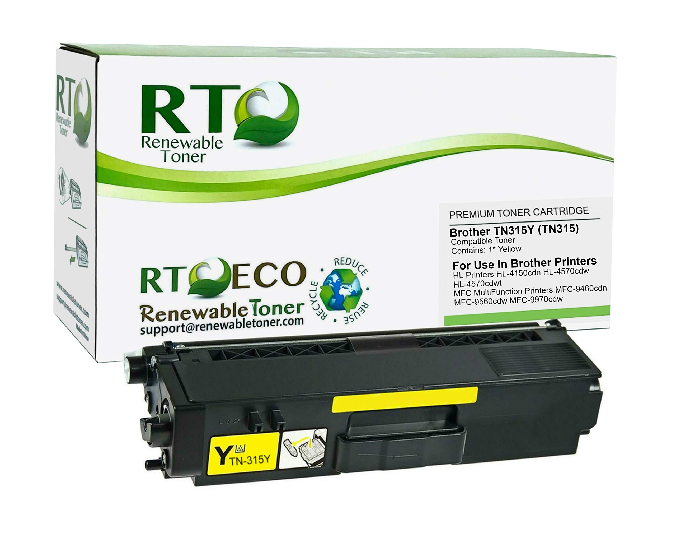 Brother TN-315C DCP-9050 9055 9270 HL-4140 4150 4570 MFC-9460 9465 9560 9970 Toner Cartridge in Retail Packaging Cyan