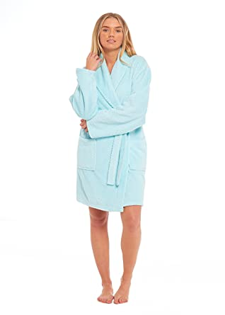 ba4e7f07c0 Ladies Dressing Gown Soft Cosy Gowns for Women Honeycomb Pattern Kimono  Fluffy Bathrobe Womens Lounge wear(Medium 12-14