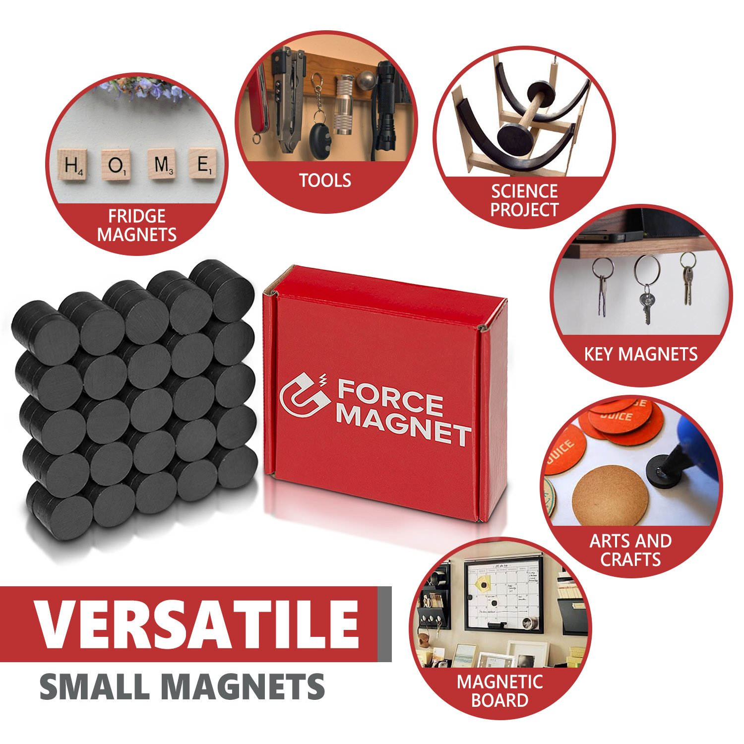 force magnet 100 powerful magnets tiny 18 mm round disc safest