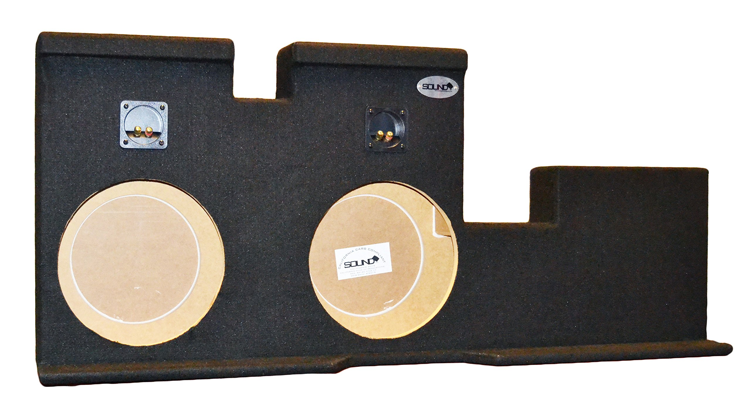Toyota Tundra Doublecab Double 12'' Subwoofer Enclosure Sub Box 2007-2015, CARB COMPLIANT MDF! DONT BUY CHEAPER NON COMPLIANT MDF!