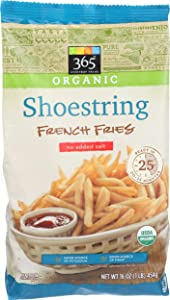 365 Everyday Value, Organic Shoestring French Fries No Salt Added, 16 oz, (Frozen)
