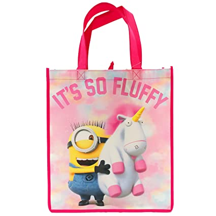 0d726b0c540e Despicable Me 3! Minions Its So Fluffy! Pink Unicorn Reusable Tote Bag for  Kids, Teens, and Adults! Medium
