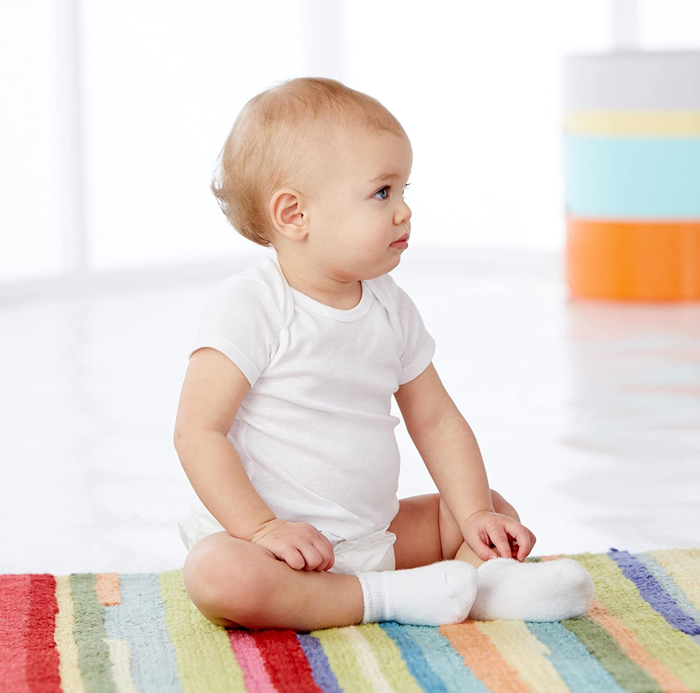 Gerber Unisex-Baby Newborn 2 Pack Waterproof Pant,White,12 Months