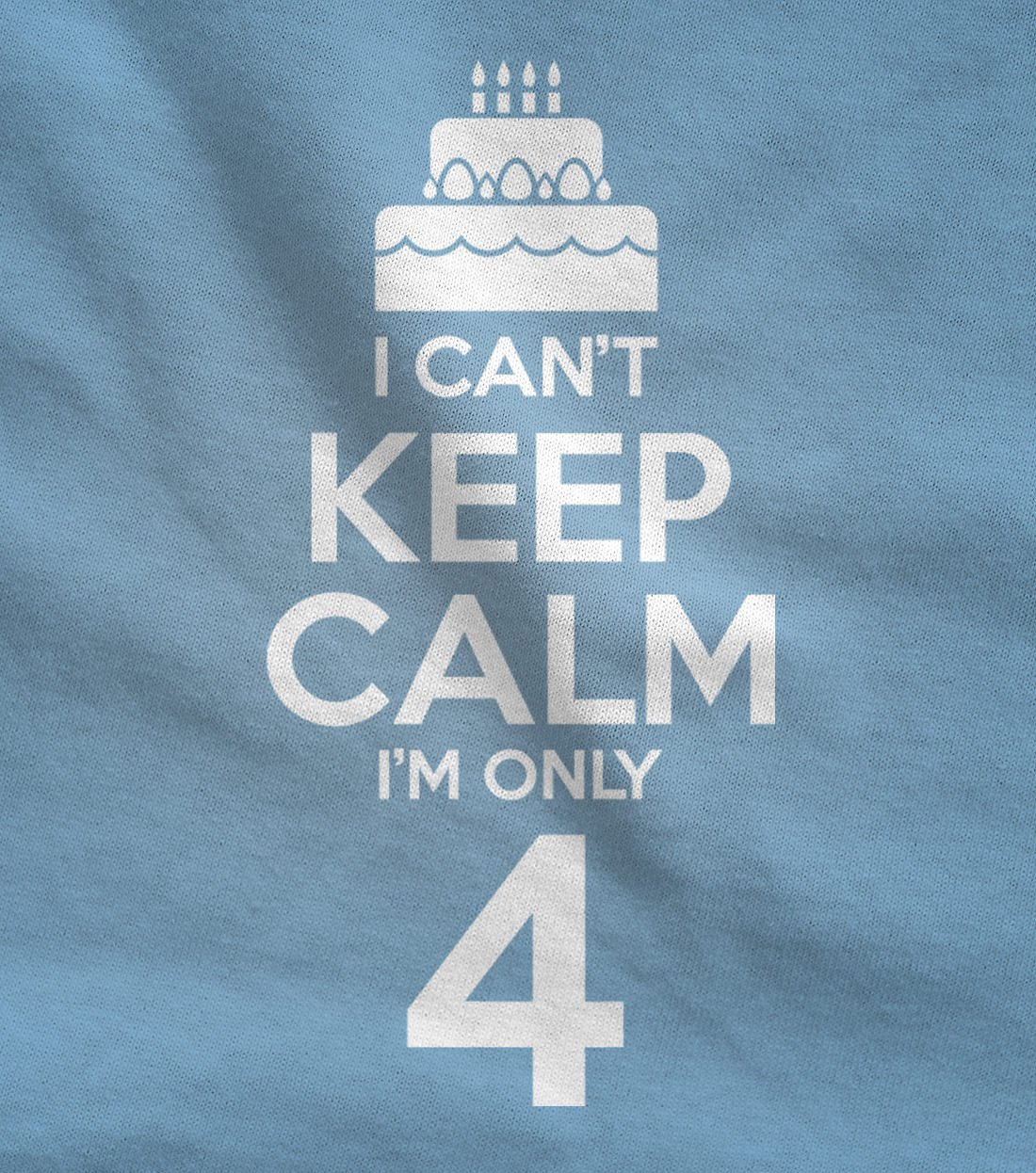 Birthday Cake – I Can't Keep Calm I'm 4 Children's Cute Toddler Jersey T-Shirt