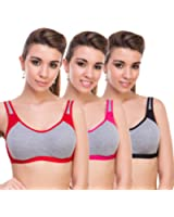 Bodylable cotton mix Women Lingeries set pack of 3 in Multicolor