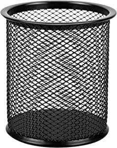 AmazonBasics Wire Mesh Pen Cup, Black