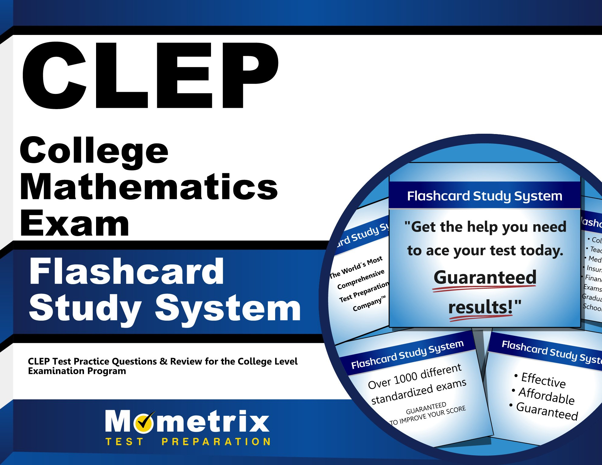 CLEP College Mathematics Exam Flashcard Study System: CLEP Test ...