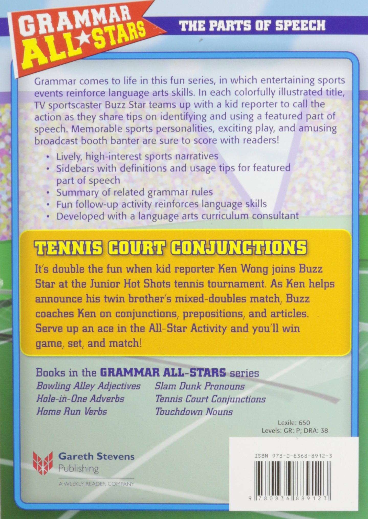 Tennis Court Conjunctions Grammar All Stars The Parts Of Speech
