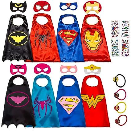 Amazon.com: 8 tapas de superhéroes para niños, juguetes y ...