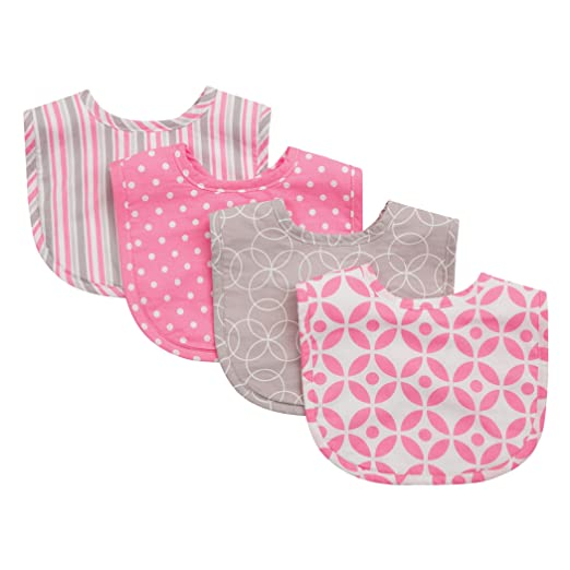 Amazon.com: Tendencia Lab Bib Set, Pink, Lily, 4 count: Baby