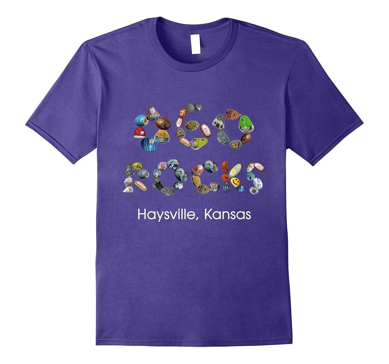 060 Rocks Group Haysville Kansas Colorfully decorated Rocks-Art