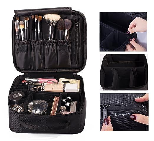 ROWNYEON Portable Travel makeup bag / Makeup Case / Mini Makeup Train Case9.8''