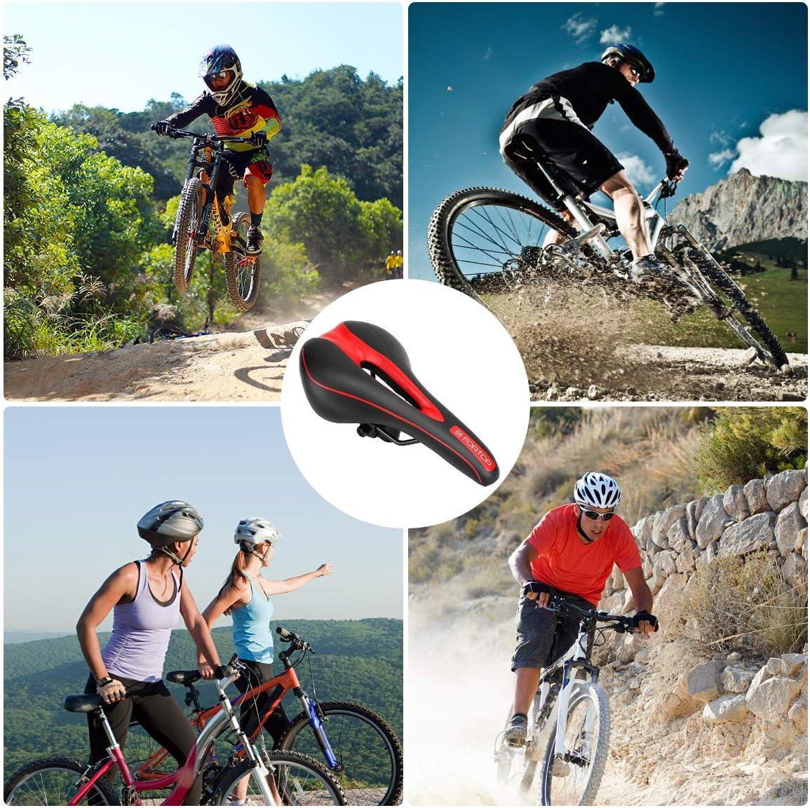 FORTOP Most Comfortable Bike Seat Bicycle Saddle Cushion for Men Women
