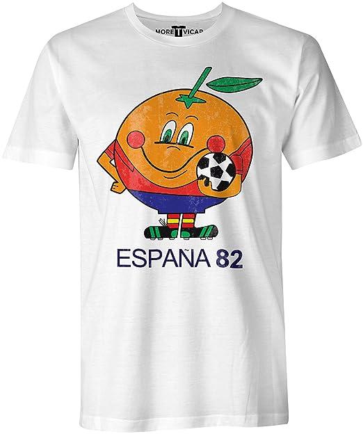 Spain 82 - Copa Mundial de Fútbol de la camiseta - Hombre: Amazon.es: Ropa y accesorios
