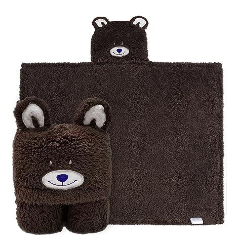 Manta de toalla con capucha de los niños, toalla de baño del paño grueso y suave felpa del oso animal ...