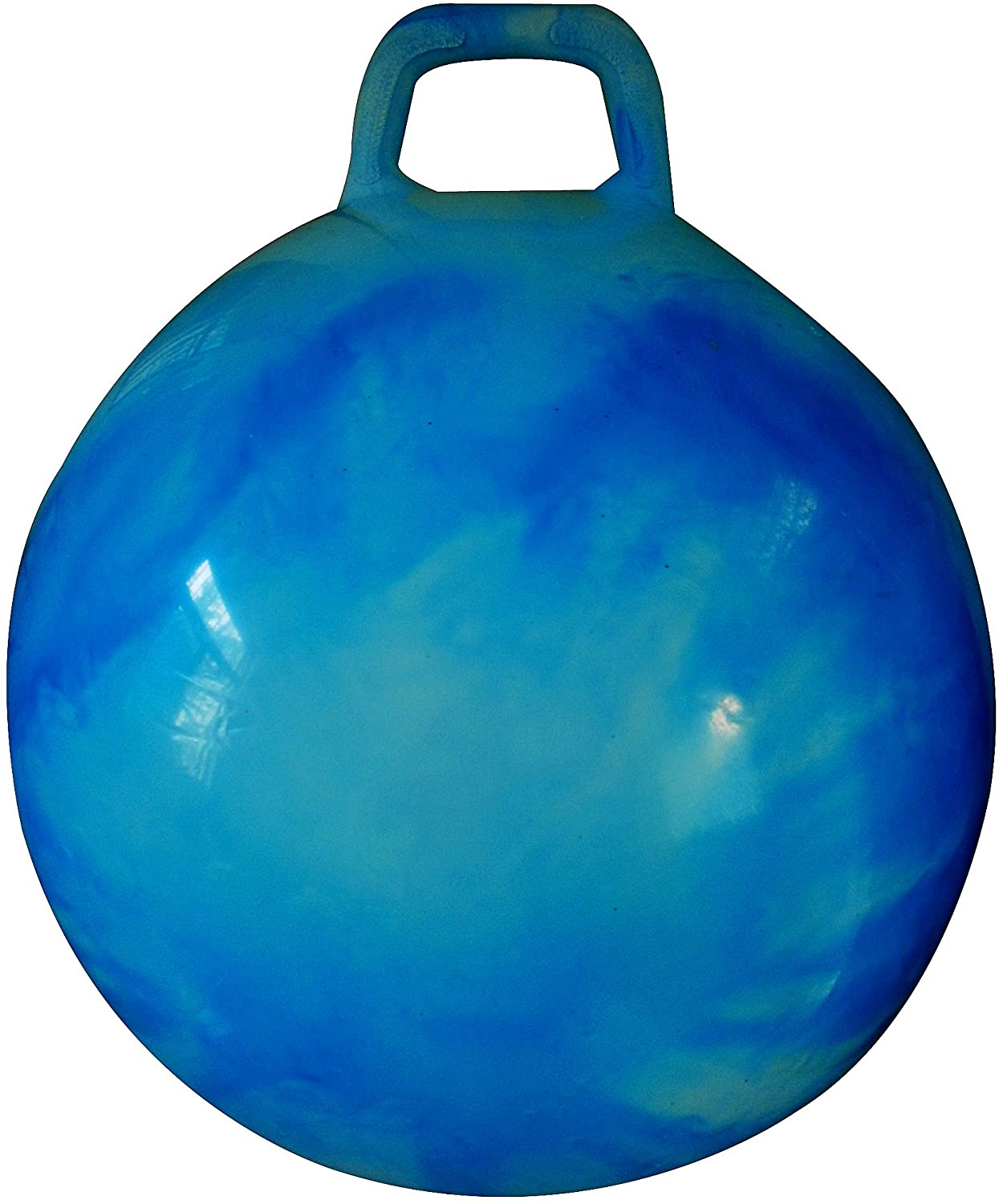 AppleRound Space Hopper Ball: 28in/70cm Diameter for Ages 13 and Up, Pump Included (Hop Ball, Kangaroo Bouncer, Hoppity Hop, Sit and Bounce, Jumping Ball)