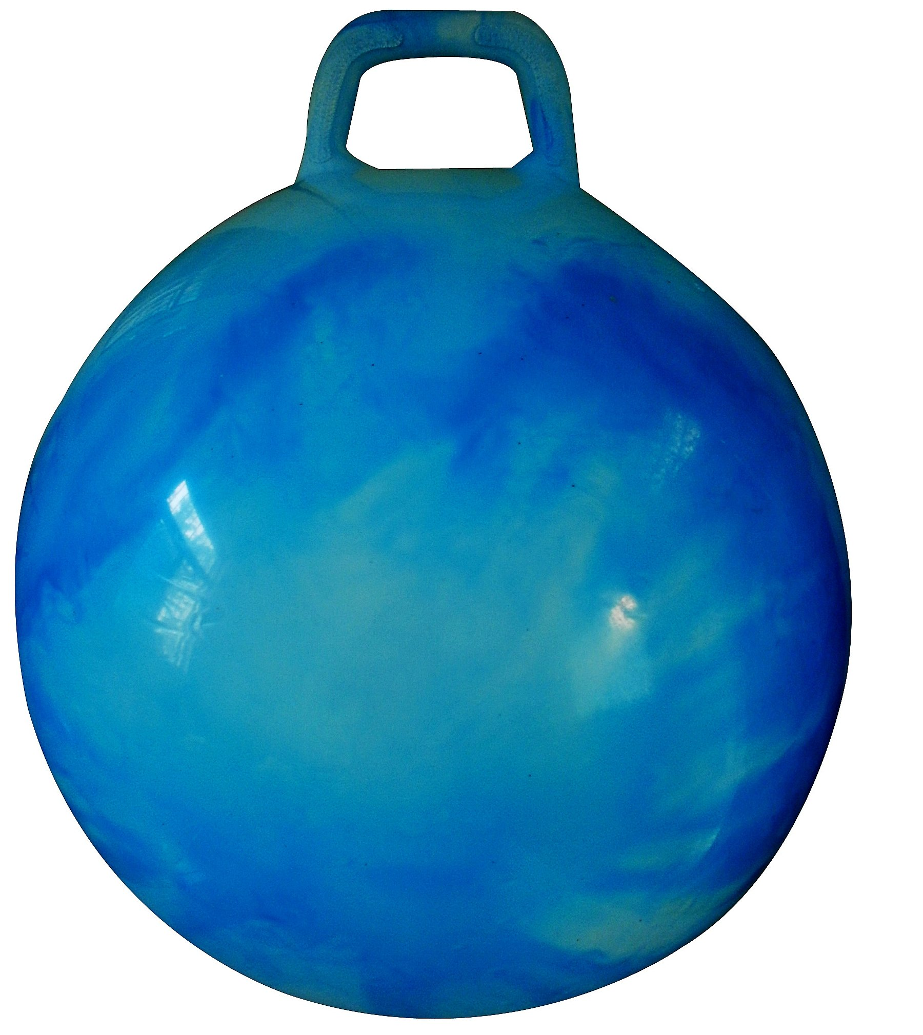 AppleRound Space Hopper Ball with Air Pump: 20in/50cm Diameter for Ages 7-9, Hop Ball, Kangaroo Bouncer, Hoppity Hop, Jumping Ball, Sit & Bounce (Blue Cloud) by AppleRound