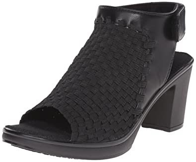 STEVEN by Steve Madden Womens Ezzme Fabric Open Toe Casual, Black, Size 5.0